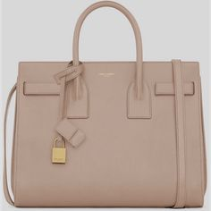 Saint Laurent Classic Small Sac De Jour Bag In Pale Blush #Leather ($2,750) ❤ liked on Polyvore leather #handbags tote
