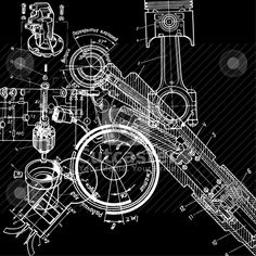 Technical drawing Vector Illustration - Download abstract Royalty Free Clipart