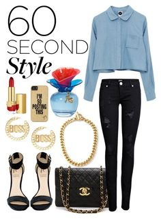 """60 Second style: Dance Party"" by kidrauhlftbizzle ❤ liked on Polyvore featuring Juicy Couture, Chanel, ONLY, C. Wonder, Justin Bieber, Rihanna For River Island, Estée Lauder and danceparty"