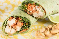 Thai Peanut Chicken Wraps