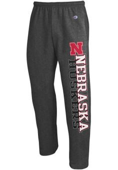 Product: University of Nebraska Huskers Open Bottom Sweatpants