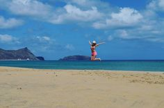 Ostrov Porto Santo   #portosanto #portosantoisland #beach #holiday #sun #hot #summer #blondgirl #sand #ocean #atlantic  #travelgram #travel #travelling #trip #traveler #adventure by hanahonig
