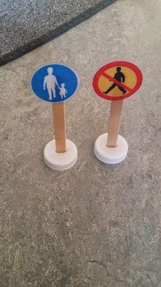 Kreativa barn: Trafikskyltar till fordonslek