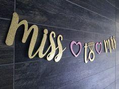 Miss to Mrs Gold Glitter Banner Custom Banner by ShayloAndLolli