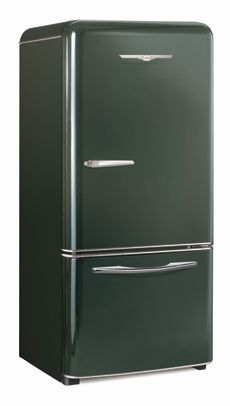 Textured Black Northstar Retro Refrigerator by Elmira