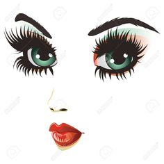 Illustration of Beautiful girl face with gothic fashion make up. vector art, clipart and stock vectors.'Beauty woman face by AnnArtshockFind goth girl Stock Images in HD and millions of other royalty-free stock photos, illustrations and vectors in Girl Face, Woman Face, How To Draw Eyelashes, Cartoon Eyes, Artwork Images, Face Design, Eye Art, Beauty Art, Gothic Fashion