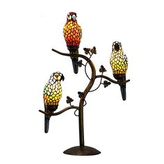 Beleuchtung, Innenbeleuchtung, Tisch- & Stehleuchten, Tischlampen Tiffany, Parrot, Table Lamp, Lighting, Home Decor, Interior Lighting, Bedside Cabinet, Light Fixtures, Sitting Rooms