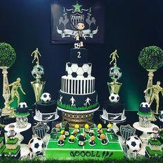 01 Football Theme Birthday, Soccer Birthday Parties, Birthday Party Desserts, Football Themes, Sports Birthday, Sports Party, Boy Birthday, Soccer Decor, Soccer Theme
