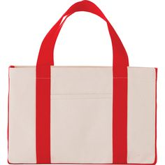 """Our 18oz Cotton Canvas Utility Tote is perfect for various uses such as groceries, sports equipment, beach gear, or everyday carry. Open main compartment and front slash pocket. 9"""" drop handles. Available in 4 different colors, these totes are the perfect canvas for screen printing your logo on! Shop now at www.nyfifth.com today!    #totebags #beachtote #promotionalproducts Beach Gear, Custom Tote Bags, Utility Tote, Everyday Carry, Sports Equipment, Cotton Canvas, Screen Printing, Totes, Reusable Tote Bags"""