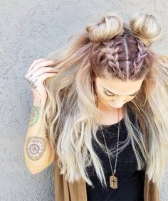 45 Easy Hairstyles For Spring Break Rapunzel Rapunzel Let Down Your Long Hair Hair, Long hair styles, Hair styles Pretty Hairstyles, Girl Hairstyles, Hairstyle Ideas, Latest Hairstyles, French Plait Hairstyles, 2 Buns Hairstyle, Spring Hairstyles, Teenage Hairstyles, Hairstyles 2018