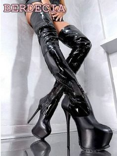 Night club ladies python leather 16 cm high hell over the knee long boots multi color platform stiletto heel thigh high shoes-in Over-the-Knee Boots from Shoes on Aliexpress.com   Alibaba Group