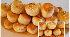 Šumavské pagáčiky ze smetany – nekyne: S jemnějším těstem jsem v životě nedělala, dělám je na 5 plechů! Hungarian Recipes, Appetisers, Main Dishes, Muffin, Food And Drink, Vegetarian, Bread, Sweet, Cakes