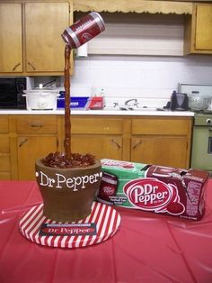 Pepper Cake - cake by Jennifer Leonard Coke, Beautiful Cakes, Amazing Cakes, Dr Pepper Cake, Delicious Desserts, Yummy Food, Tasty, Fancy Cakes, Creative Cakes