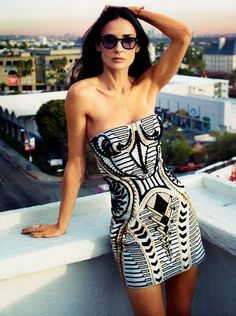 Demi Moore for Bazaar #TheOutnet #FashionMath