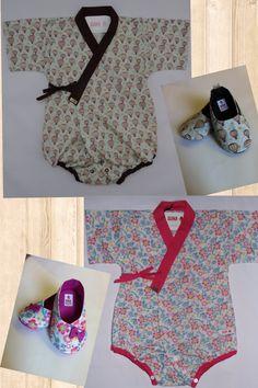 Baby kimono baby clothes baby shoes  bodysuit by SUIKA 0 - 18 months Kimono style by SUIKA Body estilo kimono e sapatinho Kimono infantil da SUIKA