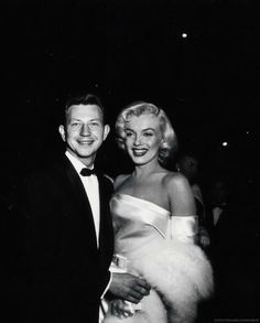 "infinitemarilynmonroe: "" Marilyn Monroe and Donald O'Connor at the premiere of Call Me Madam. """