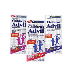 Get 1000 Shoppers Optimum Bonus Points®* when you purchase any two (2) participating Children's Advil® 100 mL products.