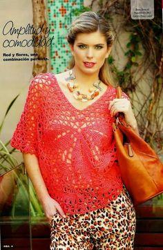 Crochetemoda: Blusas-RED. Has other tank patterns.