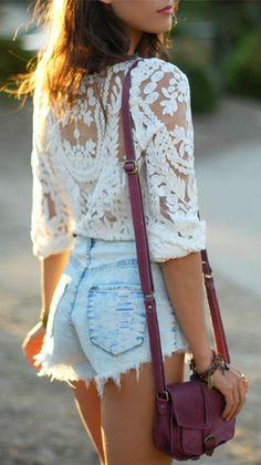 Lace + Cutoffs