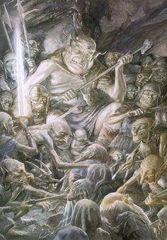 Alan Lee's goblin king. He's truly one of the best of our contemporary illustrators. More of his work on my Alan Lee page.