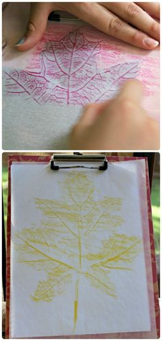 Ramp up your leaf prints this year with these creative twists and cool materials!