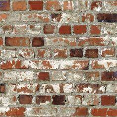 Muriva Just Like It Loft Brick Faux Red Wall Effect Wallpaper J71408