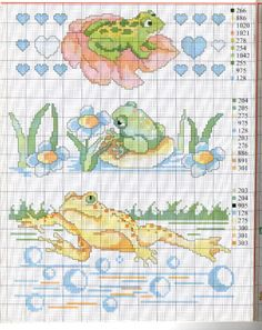 frogs to cross stitch