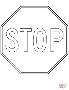 Stop Sign Coloring Page Traffic Light And Stop Sign Coloring Page Safety. Stop Sign Coloring Page Canada Stop Sign Coloring Page Free Printable Coloring Pages. Coloring Pages To Print, Coloring Pages For Kids, Coloring Books, Stop Sign Shape, Traffic Light Sign, Free Printable Coloring Sheets, Free Activities For Kids, Sign Image, Kindergarten