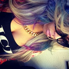 colorful hair, hair color, hairstyle