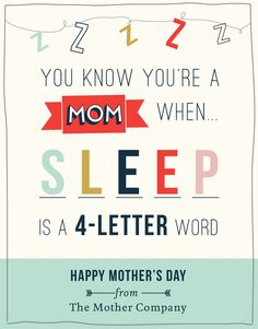 Share this e-card with the moms in your life, courtesy of The Mother Company Mothers Day Ecards, Happy Mothers Day, Mommy Humor, The Joys Of Motherhood, Mom Jokes, Happy Words, First Time Moms, E Cards, Good People
