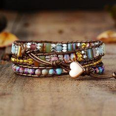Leather Wrap Bracelets, Wrap Bracelets, and Vegan Wrap Bracelets from Cape Diablo Jewelry. Yoga Bracelet, Heart Bracelet, Stone Bracelet, Copper Bracelet, Healing Bracelets, Crystal Bracelets, Friendship Bracelets, Crystal Beads, Smocking