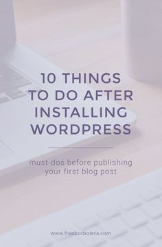 So you've finally started a blog and installed WordPress. You're ready to go, right?! Not so fast my friend. There's a few things you need to do first after a brand new WordPress installation and before launch. (and if you've been on WordPress for a while, this is a good list to double check everything …