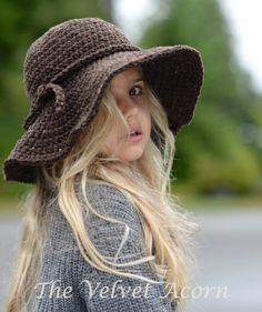 The Wanderlust Brim Hat ~ crochet pattern for sizes toddler thru adult, $5.50 digital download | by TheVelvetAcorn via Etsy