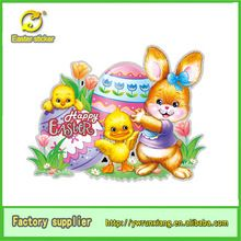 2014 3d easter decoration items glitter easter holiday decoration