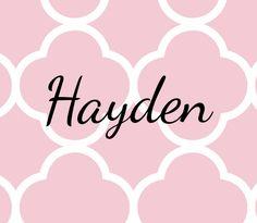 Cute Baby Names Girl Hayden