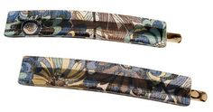 France Luxe Mod Bobby Pin Pair - Splash Garden Blue/Green >>> Be sure to check out this awesome product.