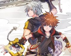 Sora Kingdom Hearts 3, Kingdom Hearts Characters, Kindom Hearts, Drawing Reference Poses, Anime Demon, Anime Male, Anime Comics, Final Fantasy, Anime Characters