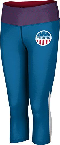 Womens Hillary Clinton Patch President Embrace Capri Length Tight 2XL ** Check out the image by visiting the affiliate link Amazon.com on image.