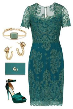 Jade Empress by chichandchic on Polyvore featuring Notte by Marchesa, Betsey Johnson, Charlotte Olympia, John Hardy, J.Crew and jade