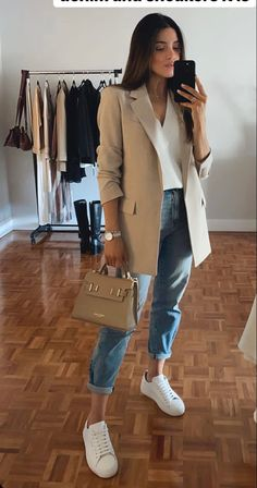 Casual Work Outfits, Blazer Outfits, Business Casual Outfits, Professional Outfits, Classic Outfits, Mode Outfits, Stylish Outfits, Winter Fashion Outfits, Look Fashion