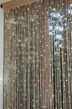 Yute natural puerta cortina de ganchillo / ventana por MountBlossom
