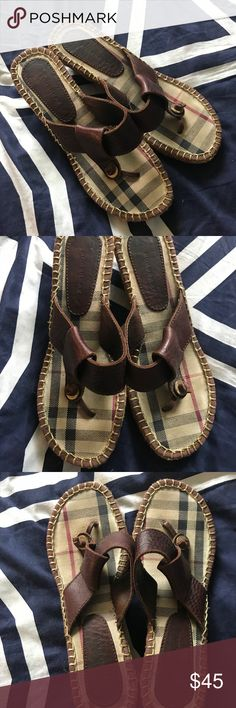 Women's Burberry sandals Authentic women's wedges sandals. Size 36. Good condition Burberry Shoes Sandals