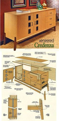 Credenza Plans - Furniture Plans and Projects | WoodArchivist.com