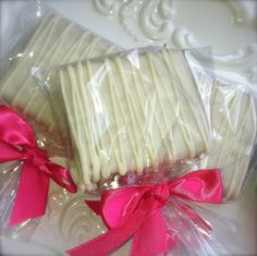 Edible wedding Favor Chocolate Dipped Graham Crackers Frost the Cake. $18.00, via Etsy.