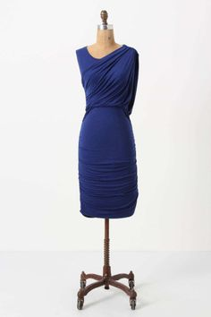 New Anthropologie Ruched and Draped Column Dress by Bordeaux Size PL