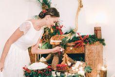 Christmas dessert tables - photo by Sara D'Ambra Photography http://ruffledblog.com/an-italian-christmas-wedding-scene