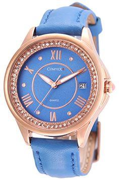Comtex 腕時計 青い文字盤 カレンダー アナログ ウオッチ 女性 クオーツ 時計 レディース Comtex https://www.amazon.co.jp/dp/B01CUA6LU0/ref=cm_sw_r_pi_dp_x_cbF.xbCSDBA5H