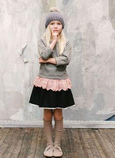 Vierra Rose Vienna Skirt in Black -SK4005