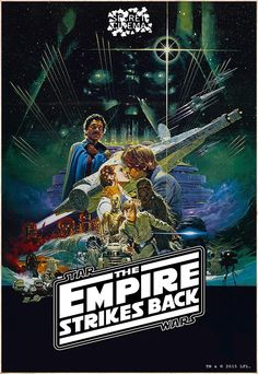 New Star Wars Episode V The Empire Strikes Back The Saga Continues Poster Card 1980's Movies, Movies Online, Movies Free, Movie Tv, Star Wars Poster, Star Wars Art, Star Wars Comics, Star Wars Costumes, Falling Kingdoms