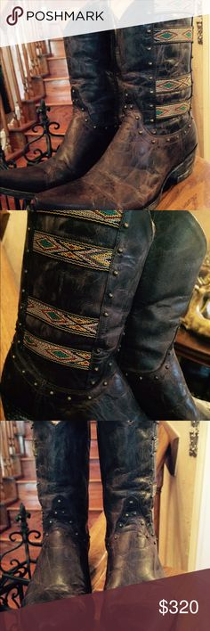 """Old Gringo Elina Boots Worn very few times. Beautiful boots! Size 6.5 .10"""" high shaft. Old Gringo Shoes Heeled Boots"""
